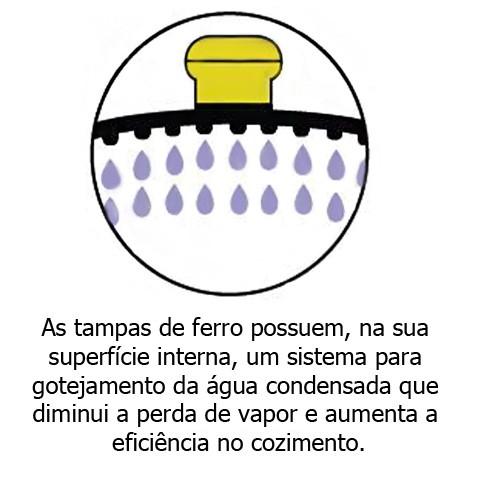 Caçarola de Ferro c/ Alça de Ferro 5L FUMIL