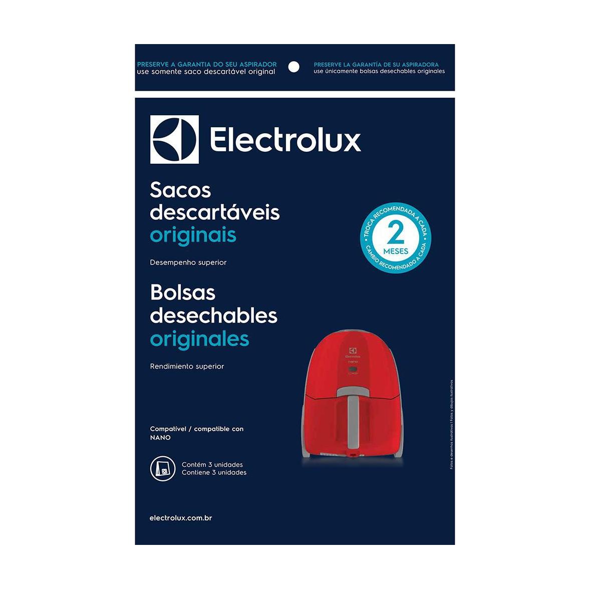 Saco Descartável para Aspirador de pó Nano - Electrolux