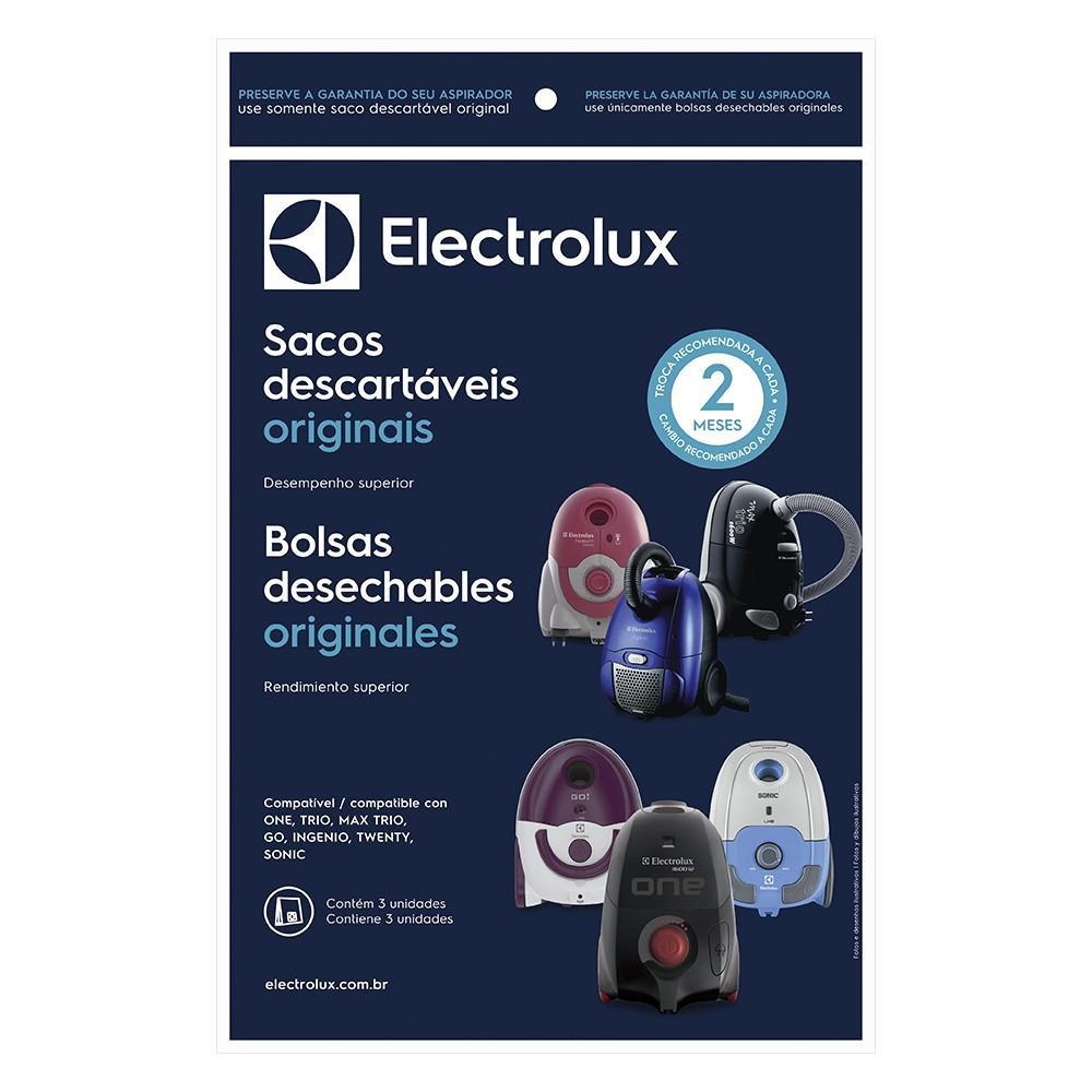Saco Descartável para Aspirador de Pó Trio/ Max Trio/ One/ Go/ Ingenio/ Twenty/Sonic - Electrolux