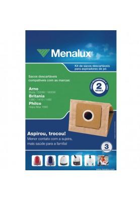 Sacos Descartáveis para Aspirador de Pó Menalux - Arno, Britania e Philco