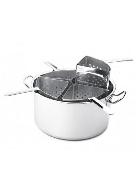 Espagueteira Aço Inox com 4 Divisórias  - Hercules