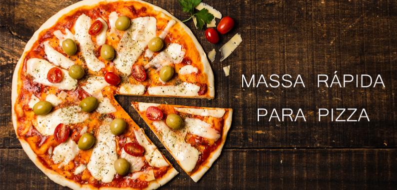 Receita de Massa Rápida para Pizza